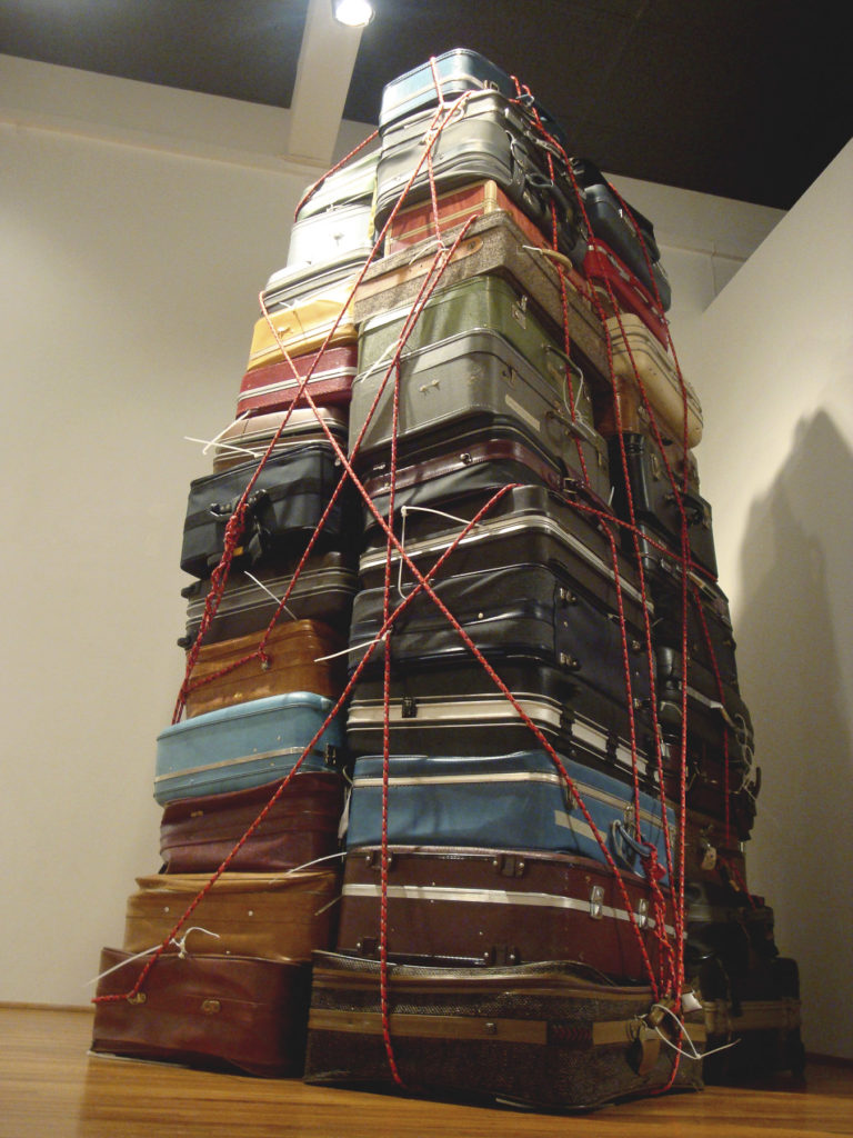 The Tower. 2010. Intallation, rope and suitcases. Variable dimentions. Art Space Virginia Miller Galleries.