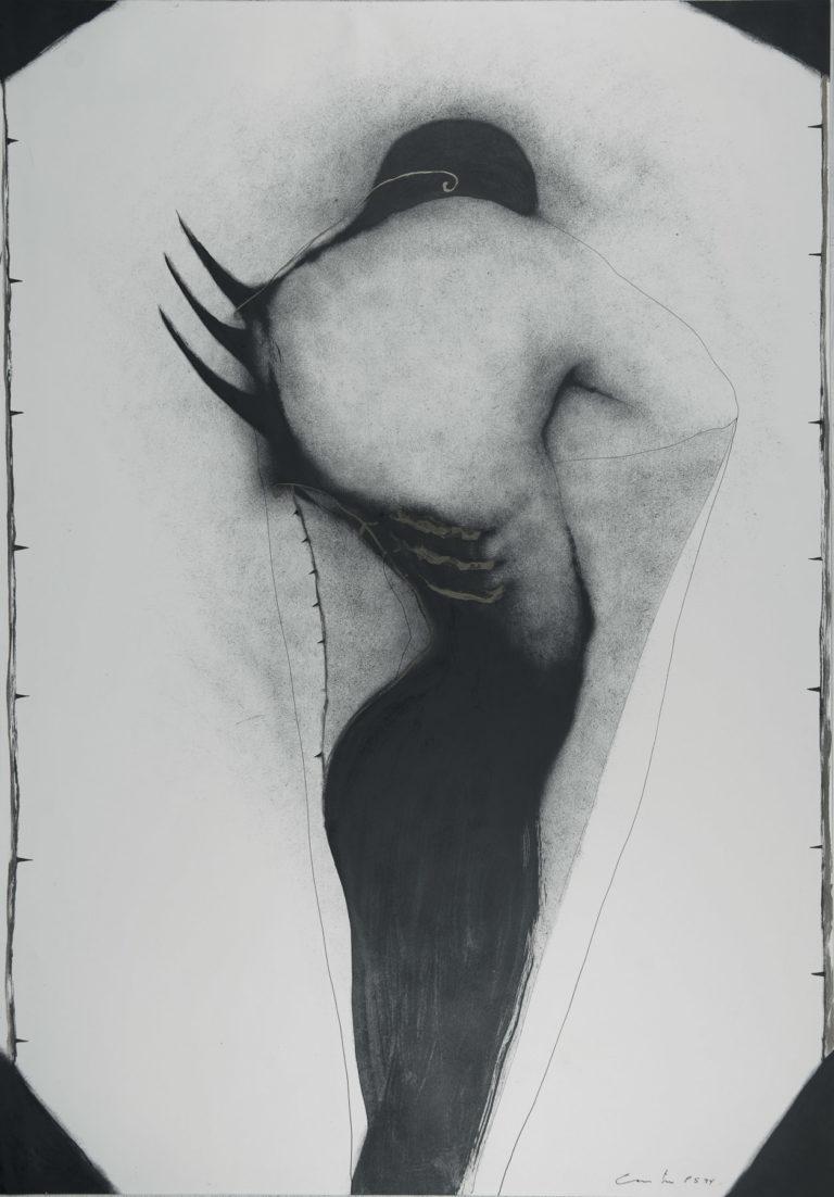 El minotauro en su laberinto, 1994, ink and oil on fabriano paper,_