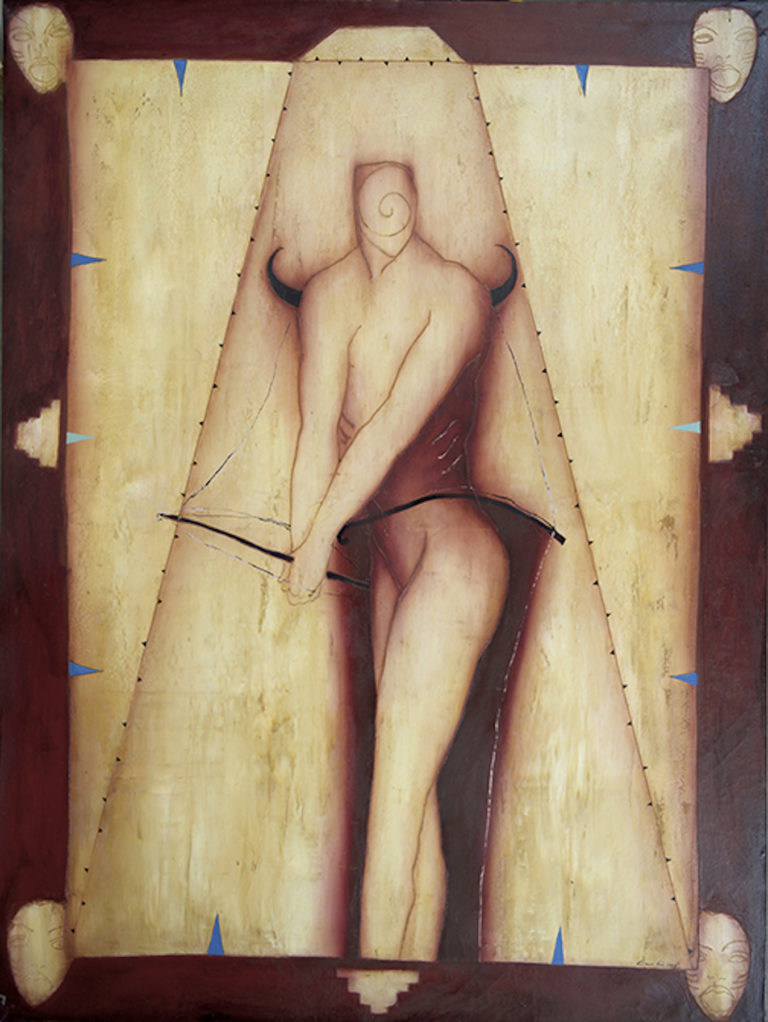 La Piramide Infinita. 1994, oil on canvas, 59 x 79 in