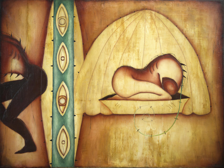 Dream on the Way. 1995, oil on canvas, 78 x 59 in