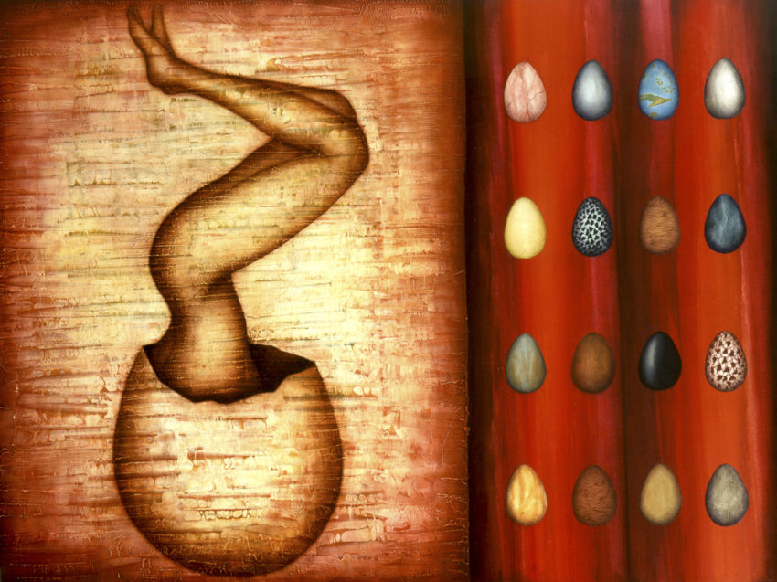 Snake's Egg. 1998, oil on canvas, 59 x 78 in. Humberto Castro