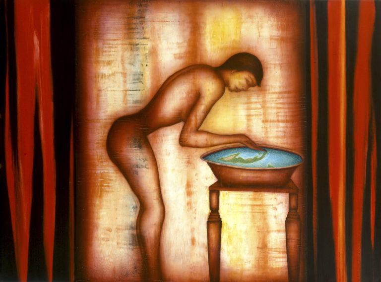 Hallucination. 1998, Oil on canvas, 59 X 78 In. Humberto Castro
