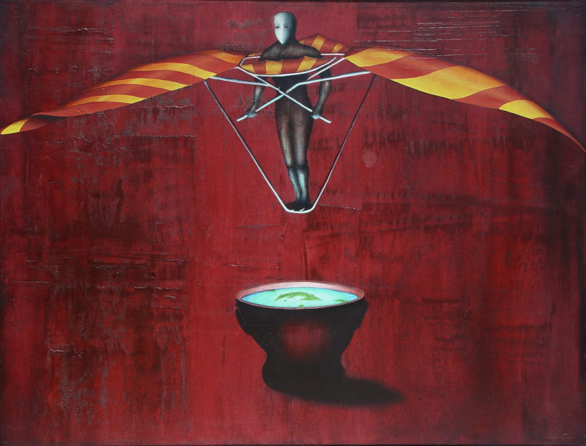 Vuelo Nocturno. 1999, oil on canvas, 42 x 55 in. Humberto Castro