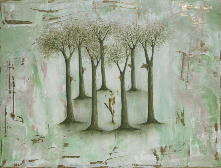 El Bosque encantado II. 2008, oil on canvas, 42 x 55.5 in. Humberto Castro