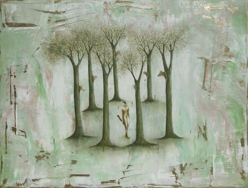 El Bosque encantado II. 2008, oil on canvas, 42 x 55.5 in. Humberto Castro