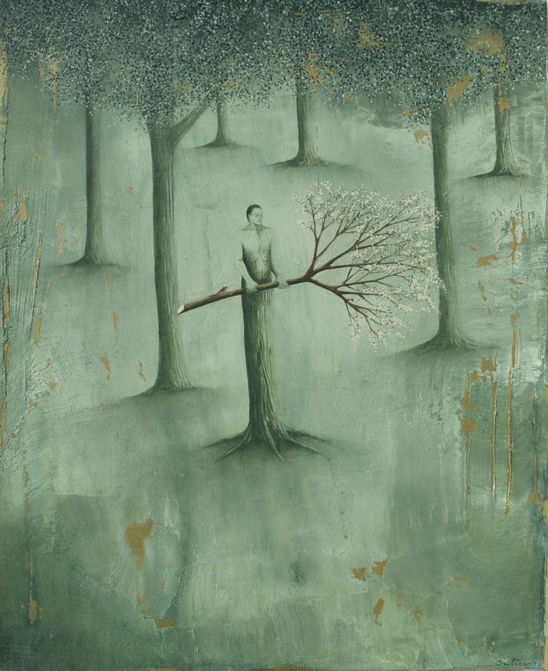 El guardián. 2007, oil on canvas, 26 x 32 in. Humberto Castro