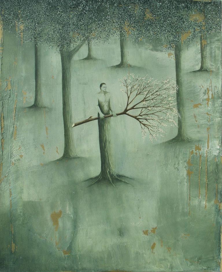 El guardián. 2007, oil on canvas, 26 x 32 in. Humberto Castro