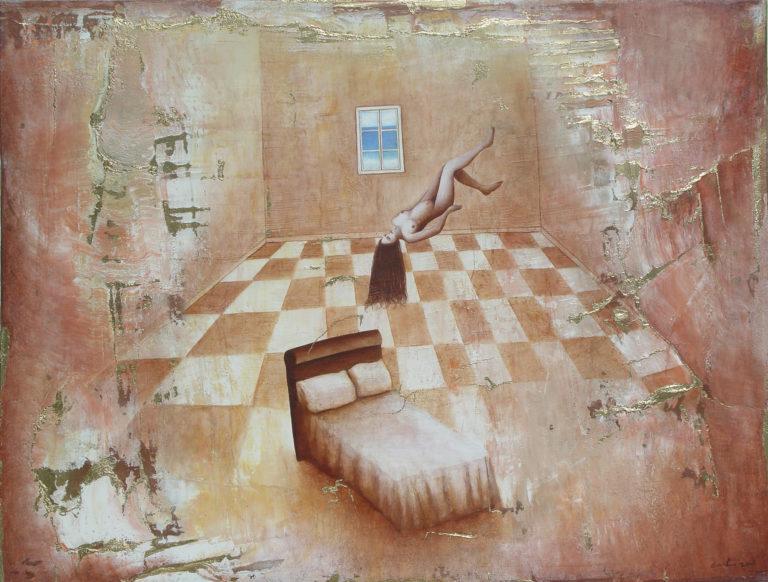The journey. 2008, oil on canvas, 42 x 55.5 in. Collection Victoria Saladrigas, Miami Fl
