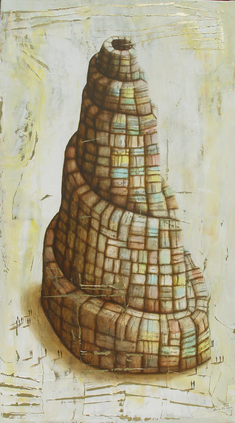 Babel. 2008, oil on canvas, 44.5 x 79 in. Humberto Castro