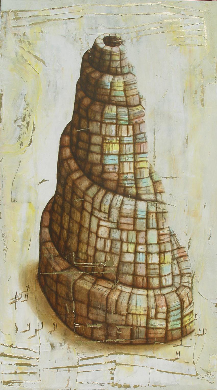 Babel. 2008, oil on canvas, 44.5 x 79 in. Humberto Castro