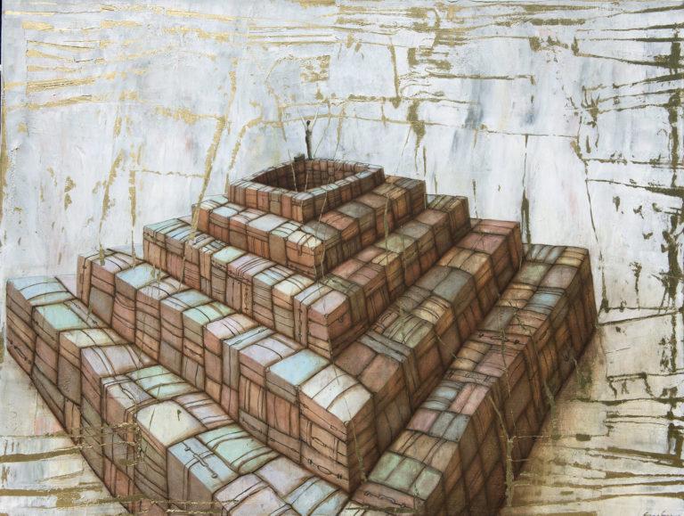 Pyramid. 2008 oil on canvas 42 x 55 in. Humberto Castro