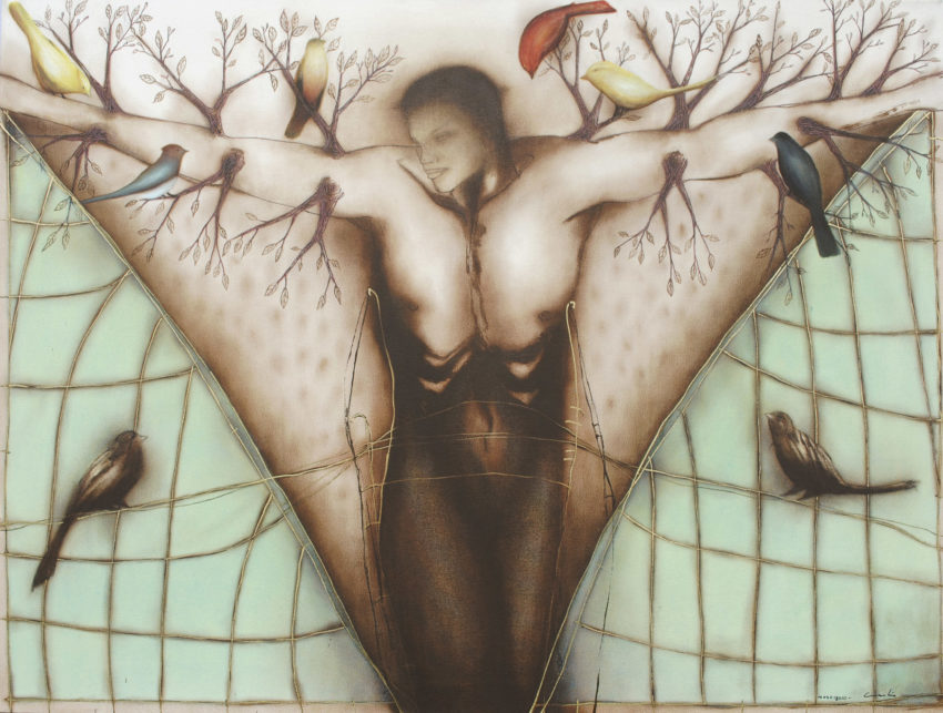 Inside, Outside. 2010, oil on canvas, 44 x 58 in. Humberto Castro