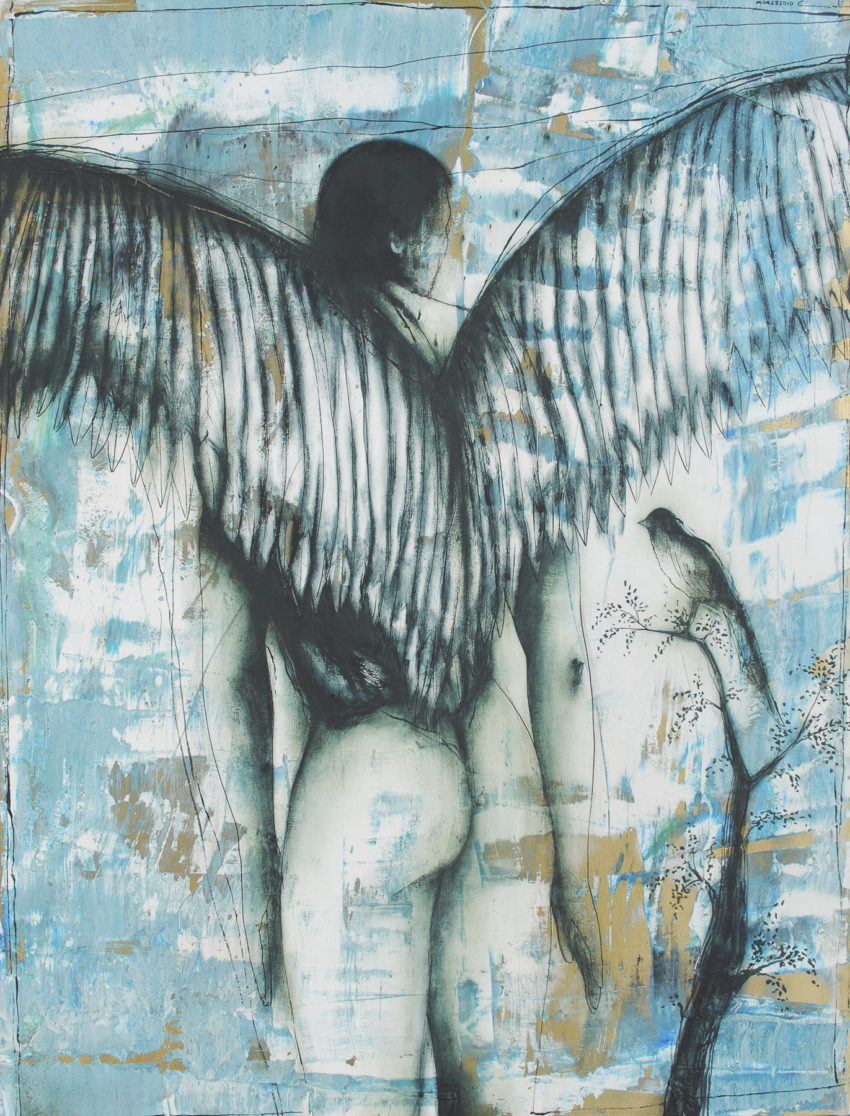 Learning to Fly. 2010, acrylic and oil on canvas, 42.5 x 55 in. Humberto Castro