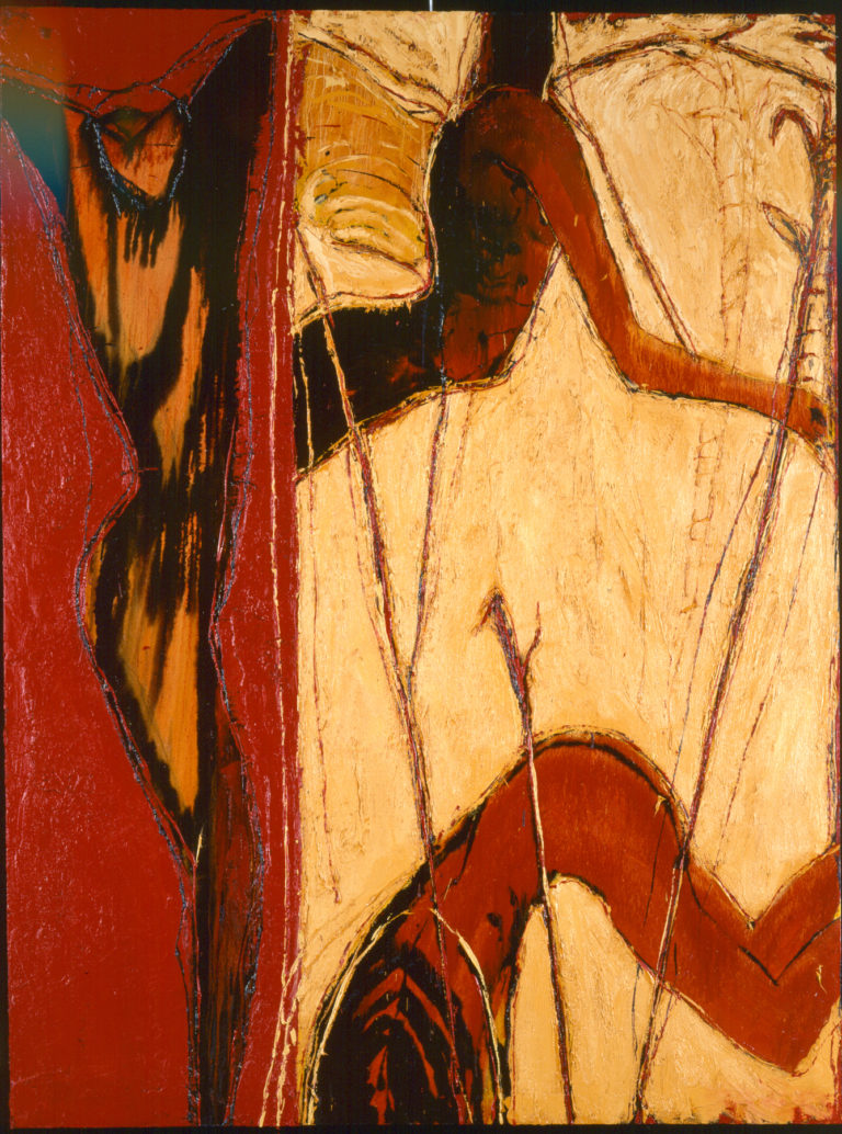 The third angel. 1992, oil on canvas, 78 x 59 in