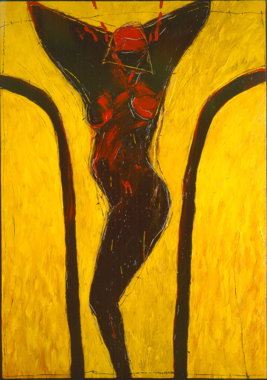Yellow III. 1989, acrylic on canvas, 78 x 55 in