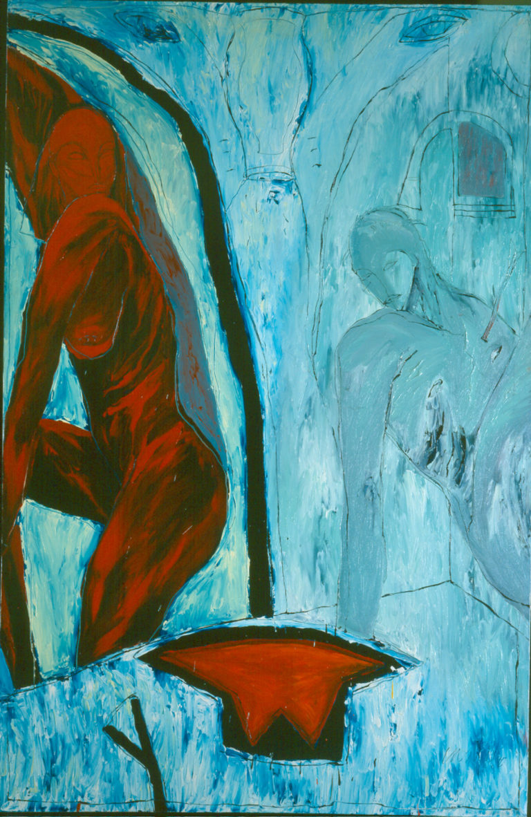 Forever Acuarius. 1990, oil on canvas, 78 x 51 in